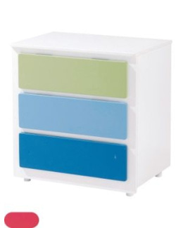 Commode bebe Biscotte 3 tiroirs