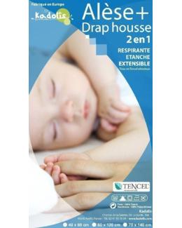 Alèse Drap Housse 2 en 1 lit bébé