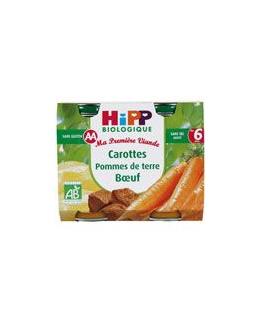 Carottes Pommes de terre Boeuf - 2 pots x 190g - 6 mois