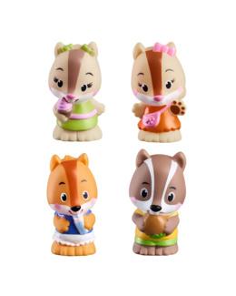 Lot de 4 personnages écureuils Nut Nut - Klorofil