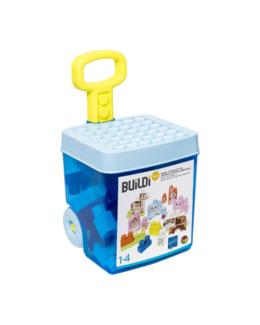 Baril à roulettes Maxi briques animaux Buildibul