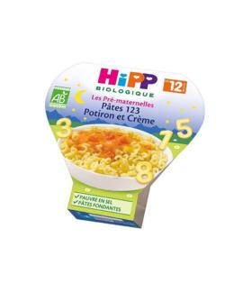 Pâtes 123 Potiron et Crème - dès 12 mois