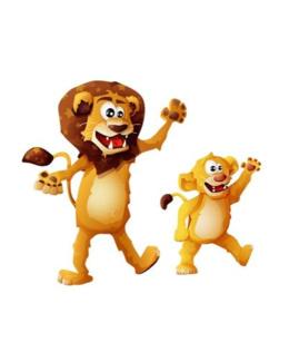 Stickers Lion et lionceau