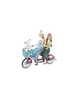 La Reine des Neige - Anna et Elsa à vélo
