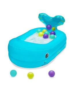 Baignoire gonflable baleine avec balles de jeu