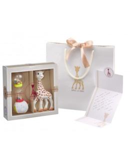 Coffret Sophiesticated - Sophie la girafe + hochet soft maracas