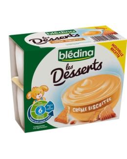 Les desserts - Crème biscuitée