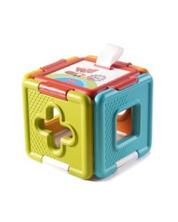 Cube 2en1 Trieur de formes et puzzle