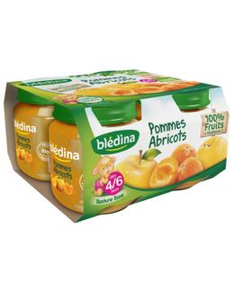 Pot Pommes Abricots 4x130g