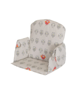 Coussin avec accoudoir pour chaise haute en tissu