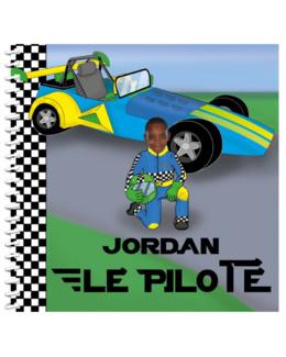 Livre personnalisé pour enfant et sa famille : Pilote de course