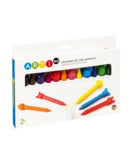 12 crayons de cire animaux