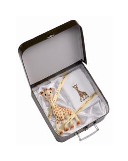 Valisette cadeau Sophie la Girafe + carré éponge