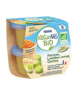Naturnes BIO VEGETAL Poireau, Lentilles Corail, Quinoa