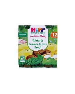 Pommes de terre Epinards Bœuf - 2 pots x 250g - 12 mois