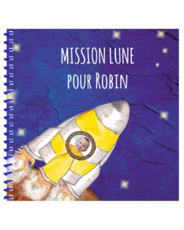 Livre personnalisé pour enfant et sa famille : Mission Lune