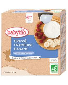 Brassé au Lait de Vache français - Framboise Banane