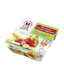 Compote infantile : pomme, banane, fraise