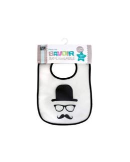 Bavoir imperméable Moustache