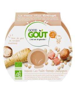 Le Petit Plat beige : haricots coco, poulet fermier, champignons