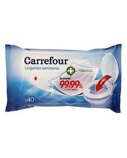 Lingettes sanitaires antibactériennes jetables dans les WC