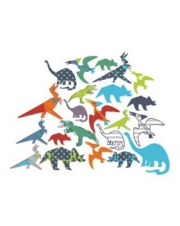 34 stickers dinosaures chambre garcon
