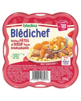 BLEDICHEF - Petites pâtes et boeuf façon bourguignon
