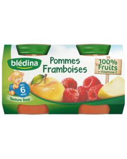Pot Pommes Framboises 4x130g