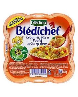 Blédichef : Légumes, riz et poulet au curry doux