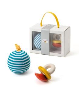 Coffret de naissance hochet et balle vibrante - Happy Box