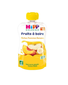 Gourde Pêches Pommes Bananes - 1 gourde x 120ml - dès 12 mois