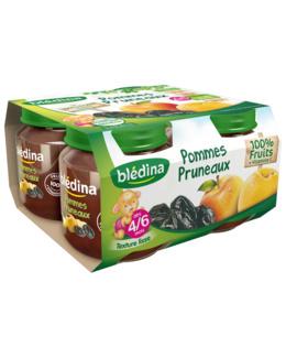 Pot Pommes Pruneaux 4x130g