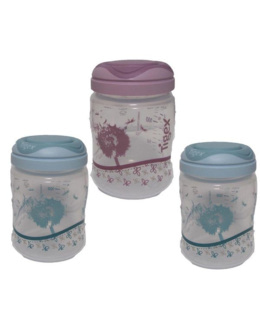 3 pots de conservation pour lait maternel