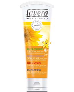 Crème solaire bio FPS 30 pour bébé et enfant