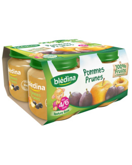 Pot Pommes Prunes 4x130g