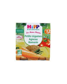 Petits légumes agneau romarin 250 g dès 12 mois