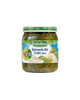 Epinards riz et colin (lieu) 250 g dès 12 mois