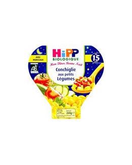 Mon dîner Bonne Nuit Conchiglie aux petits légumes - Assiette 260g - 15 mois