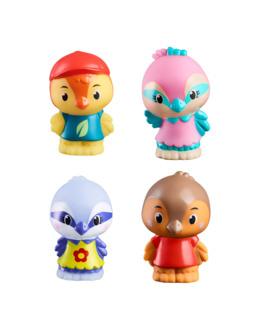 Lot de 4 figurines oiseaux Twitwit - Klorofil