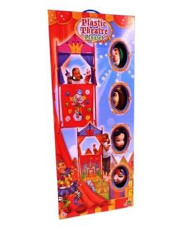 Théâtre en plastique + 4 marionnettes