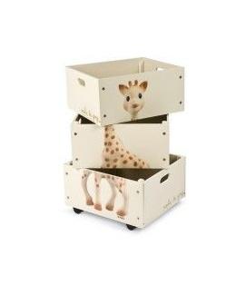 Set de 3 caisses empilables Sophie la Girafe
