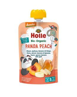 Gourde Panda Peach - pêche, abricot, banane et épeautre