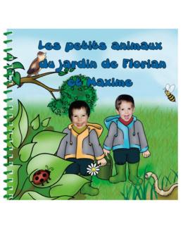 Livre personnalisé pour deux enfants et leur famille : Les animaux du jardin
