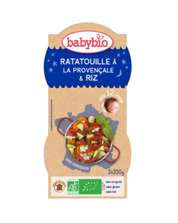 Bol Bonne nuit : Ratatouille à la Provençale et riz
