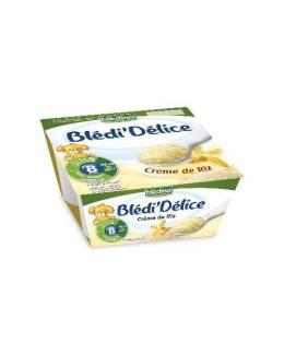 BLEDINA - Blédi'Délice Crème de riz 4x100 g