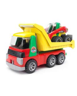 Camion benne et son Buldozer
