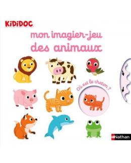 Livre Mon imagier Jeu des animaux - Kididoc