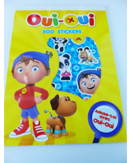 Bloc de 500 gommettes stickers Oui-Oui