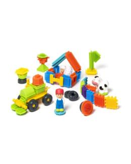 82 blocks à construire et 3 figurines ferme - Buildibul