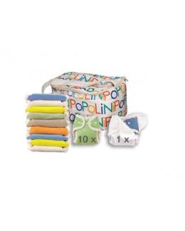 Lot de 10 couches lavables Onesize Soft